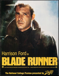 """Blade Runner (Warner Bros., 1982). Rolled, Very Fine. College Preview Poster (17"""" X 22""""). Science Fiction"""