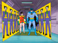 Animation Art:Production Cel, The New Adventures of Batman Production Cel and Key Master Background with Layouts Group of 4 (Filmation, 1977). ... (Total: 4 )