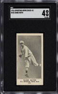 Baseball Cards:Singles (Pre-1930), 1916 M101-4 Sporting News Babe Ruth #151 SGC VG/EX 4 - New To The Hobby! ...