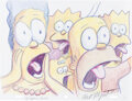 Animation Art:Production Drawing, Bill Plympton The Simpsons
