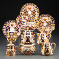 Ceramics & Porcelain, A Group of Nineteen Davenport Porcelain Traditional Imari-Style Pattern Table Articles, circa 1860. Marks: (crown), DAVENP... (Total: 22 Items)