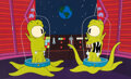 "Animation Art:Production Cel, The Simpsons ""Treehouse of Horrors X..."