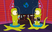 """The Simpsons """"Treehouse of Horrors XI"""" Kang and Kodos Production Cel (Fox, 2000)"""