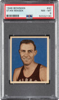 Basketball Cards:Singles (Pre-1970), 1948 Bowman Stan Miasek #40 PSA NM-MT 8....