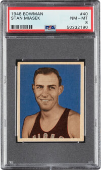 1948 Bowman Stan Miasek #40 PSA NM-MT 8