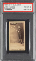 Baseball Cards:Singles (Pre-1930), 1887-90 N172 Old Judge Jack Farrell (#154-6) PSA NM-MT 8 - Pop Two, None Higher. ...