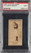Baseball Cards:Singles (Pre-1930), 1887-90 N172 Old Judge California Brown (#45-1) PSA NM 7 - None Higher. ...