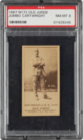 Baseball Cards:Singles (Pre-1930), 1887-90 N172 Old Judge Ed Cartwright (#70-1) PSA NM-MT 8 - Only Three PSA-Examples. ...
