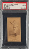 Baseball Cards:Singles (Pre-1930), 1887-90 N172 Old Judge Willard Maines (#290-5) PSA NM 7 - Finest Example for Player! ...