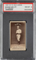 Baseball Cards:Singles (Pre-1930), 1887-90 N172 Old Judge Doggie Miller (#323-3) PSA NM-MT 8 - Pop One, None Higher for Player! ...