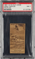 Baseball Cards:Singles (Pre-1930), 1887-90 N172 Old Judge Jimmy Peeples (#363-3) PSA NM 7 - Only Two PSA-Graded Examples! ...