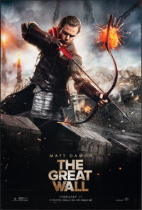 """The Great Wall & Other Lot (Universal, 2016). Rolled, Overall: Very Fine. One Sheets (2) (27"""" X 40"""") DS Ad..."""