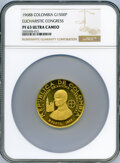 "Colombia, Colombia: Republic gold Proof ""International Eucharist Congress"" 1500 Pesos 1968-B PR63 Ultra Cameo NGC,..."