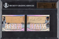 Baseball Cards:Singles (1970-Now), 2014 Topps Triple Threads Babe Ruth & Lou Gehrig (Cut Above Relic Dual Autographs) #TTDCA-1 BGS Gem Mint 9.5, Auto 9 - ...
