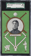 Baseball Cards:Singles (Pre-1930), 1908-09 Rose Co. Addie Joss SGC 80 EX/NM 6 - The Highest Graded Example! ...