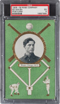 Baseball Cards:Singles (Pre-1930), 1908-09 Rose Co. Ed Walsh PSA EX 5 - By Far the Highest Graded Example! ...