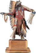Sculpture, Dave McGary (American, 1958-2013). Not Afraid of Pawnee, 1990. Bronze with polychrome. 21-1/2 inches (54.6 cm) high. Ed....