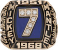 Baseball Collectibles:Others, 1980's Mickey Mantle Limited Edition (44/536) Career Ring....