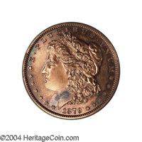 1879 $1 Morgan Dollar, Judd-1614, Pollock-1810, R.6, PR61 Red and Brown Uncertified. The obverse is of the adopted Morga...