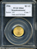 Commemorative Gold: , 1926 $2 1/2 Sesquicentennial MS64 PCGS. Typically well ...