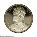 Coins of Hawaii: , 1893 $1 Huth Hawaii Silver Dollar PR63 Deep Cameo NGC. 2MH-...