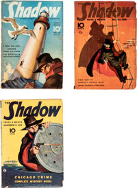 Shadow Group of 3 (Street & Smith, 1938) Condition: Average VG/FN.... (Total: 3 Items)