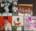 Autographs:Photos, Baseball Legends Signed Items, Lot of 22....
