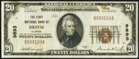 Breese, IL - $20 1929 Ty. 1 The First National Bank Ch. # 9893 Very Fine