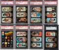 Basketball Cards:Sets, 1971 Topps Trio Sticker Complete Graded Set (26). ...