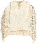 Western Expansion:Indian Artifacts, 1890s Native American Buckskin Shirt [Decorations Removed].. ...