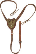 Military & Patriotic:Indian Wars, Brass-Studded Indian Wars Martingale, 2nd Cavalry.. ...