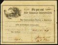 Confederate Notes:Group Lots, Ball 362 Cr. 152 $100 1864 Confederate Non Taxable Certificate Remainder Fine.. ...