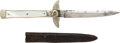 Edged Weapons:Daggers, Marsh Brothers Cutlery Dirk Knife with Sheath.. ...