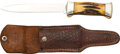 Edged Weapons:Knives, Vintage and Rare Case XX 551 Stag Folding Knife with Sheat...