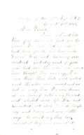 """Military & Patriotic:Civil War, General Lee Surrenders at Appomattox Court House: Letter written by Charles Adams, 111th New York Infantry. """"If you had seen ..."""