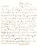 Military & Patriotic:Civil War, The Immortal 600 - Confederate prisoners held as human shields in front of Battery Wagner in Charleston, S.C.: Letter written ...