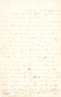 Military & Patriotic:Civil War, Andersonville Prison letter: A very rare letter written by William W. Fish, 11th New Hampshire Infantry.. ...