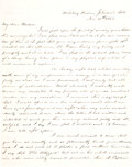 """Military & Patriotic:Civil War, Johnson's Island Prison on Lake Erie: Confederate Major George McKnight writes to one of his admirers. McKnight pen name was """"..."""