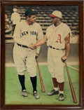 """Baseball Collectibles:Photos, Circa 1959 Babe Ruth & Jimmie Foxx Oversized Colorized Photograph from """"Jimmie Foxx' Restaurant.""""..."""