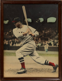 """Circa 1959 Jimmie Foxx Oversized Colorized Photograph from """"Jimmie Foxx' Restaurant."""""""