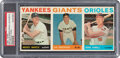 Baseball Cards:Singles (1960-1969), 1964 Topps Baseball Salesman Sample 3-Card Panel PSA Authentic With Mickey Mantle. ...