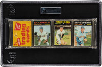1971 Topps Baseball Unopened Rack Pack GAI NM+ 7.5 With Garvey Rookie Showing on Front