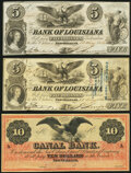 Obsoletes By State:Louisiana, New Orleans, LA- Bank of Louisiana $5 (2) May 22, 1862 Fine, Fine-Very Fine;. New Orleans, LA- New Orleans Canal & Ban... (Total: 3 notes)
