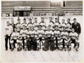 Hockey Collectibles:Photos, 1965 U.S.A. Hockey Team Signed Photograph & Tampere IIHF Ice Hockey World Championships Commemorative Medal Presented to Ken Y...