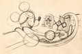 Animation Art:Concept Art, The Mail Pilot Mickey Mouse Layout D...