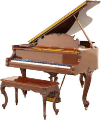 A Steinway & Sons Model M Grand Piano with Louis XV-Style Case and Stool, 1926 Marks to piano: (lyre), STEINWAY