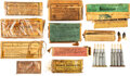 Military & Patriotic:Indian Wars, Ten Assorted Cartridge Boxes: Frankford Arsenal et al.. ... (Total: 10 )