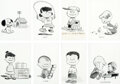 Animation Art:Production Drawing, Peanuts Early Character Illustrations by Charles Schulz (1953/1954)....