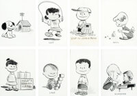 Peanuts Early Character Illustrations by Charles Schulz (1953/1954)