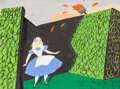 Animation Art:Concept Art, Mary Blair Alice in Wonderland Concept/Color Key Painting (Walt Disney, 1951)....